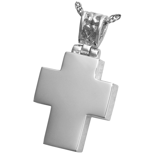 Small Cross Cremation Pendant