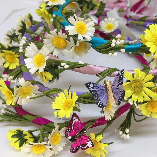 Candy Striped Daisy/Butterfly Garlands