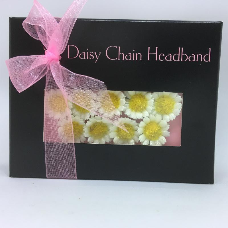 Black Daisy Boxes - 25 small daisies available in white or pastel