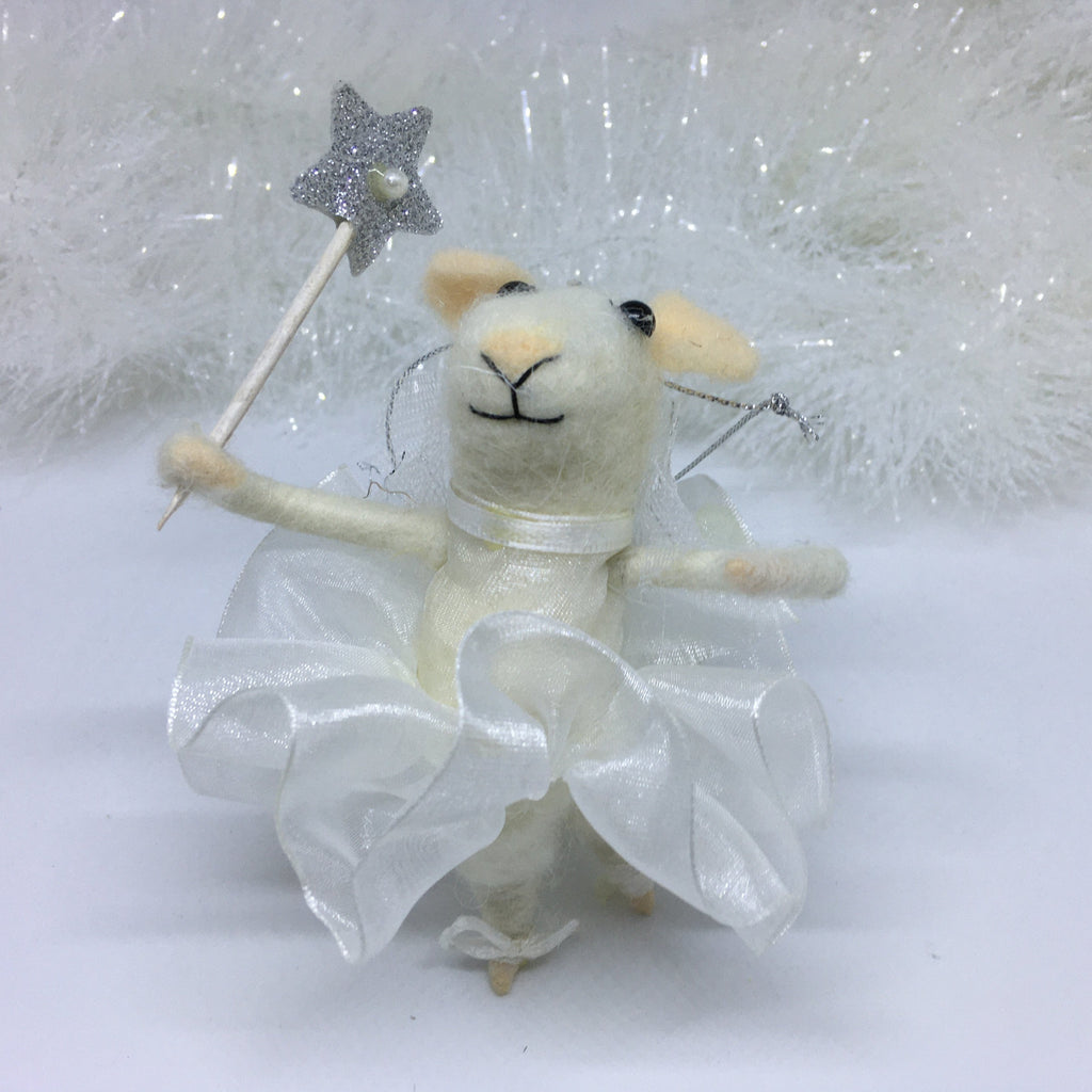 Ballerina mouse hanging decoration