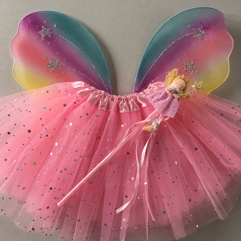 Rainbow Sparkle set with fairy wand