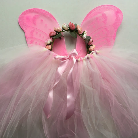 Handmade Flower Fairy Sets - pink - Standard length