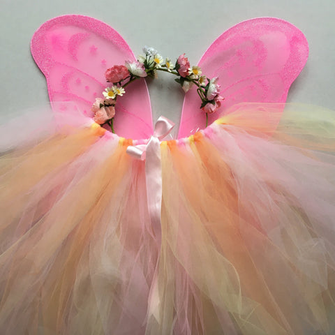 Handmade Flower Fairy Sets - peachy/pinks - Standard length