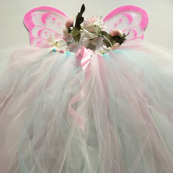 Handmade Flower Fairy Sets - pastel pink - Longer length