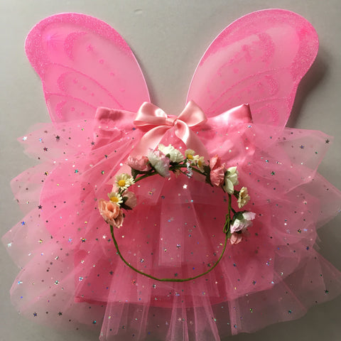 Satin Star Flower Fairy Set - Tutu