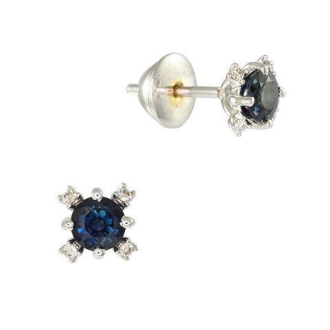 18ct White Gold 0.55 ct Sapphire & Diamond Constellation Earrings