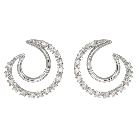 18ct White Gold 0.24 Carat Diamond Earrings