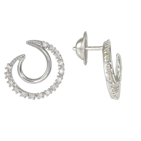18ct White Gold 0.24 Carat Diamond Elegance Earrings