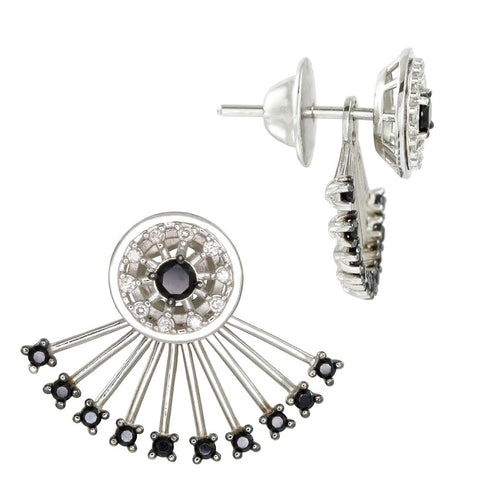 18ct White Gold 0.74 carat Diamond & Black Spinel Paris Earrings