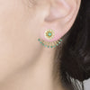 18ct Yellow Gold 0.74 carat Diamond & Emerald Paris Earrings