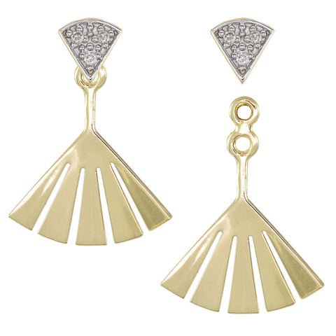 18ct Yellow Gold 0.04 carat Diamond Dança Earrings