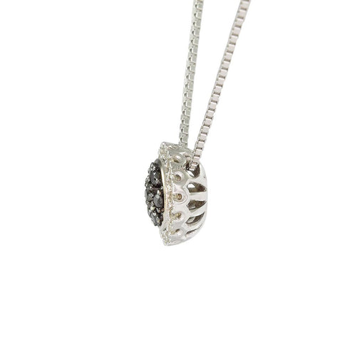18ct White Gold 0.14ct Black & White Diamond Cosmos Necklace