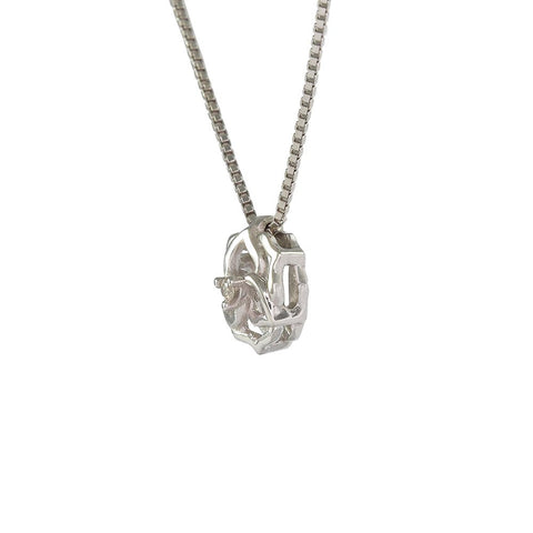 18ct White Gold Diamond Flower Necklace