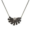 18ct White Gold 0.25 carat Black Spinel & White Diamond Dança Necklace