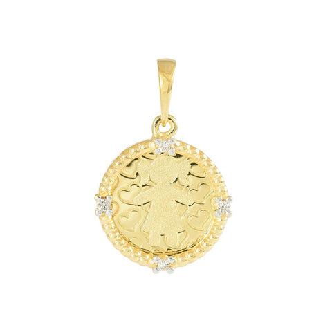 18ct Yellow Gold Diamond Little Girl Pendant