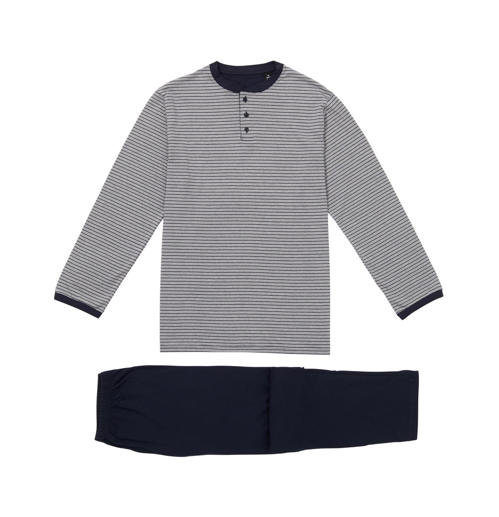Stockholm stripes, Tree button placket