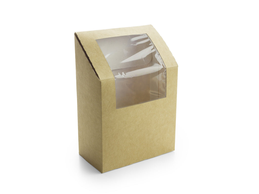 Sustainable Wrap Box with Bio-Plastic Window - Pack of 1000