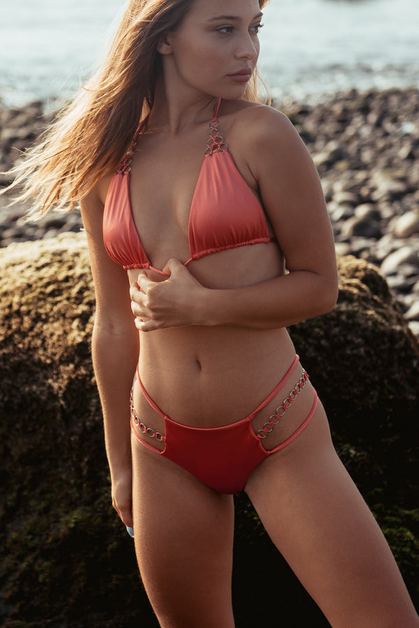 Bikini Ring 1 Hot Coral