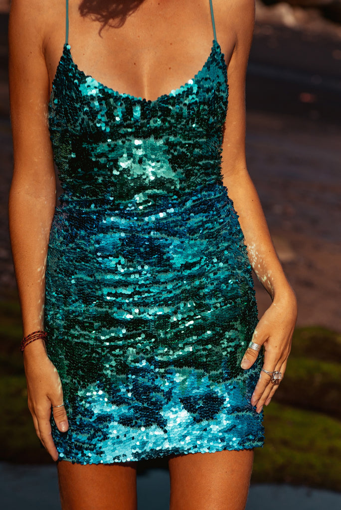 Dress Ombre Turquoise