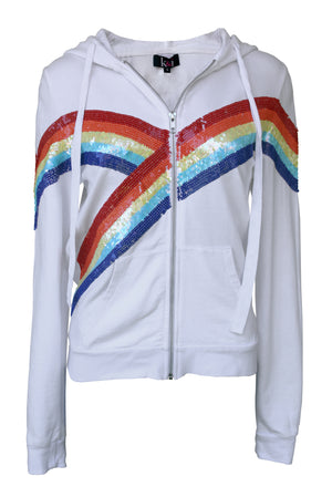 Jacket Double Rainbow White
