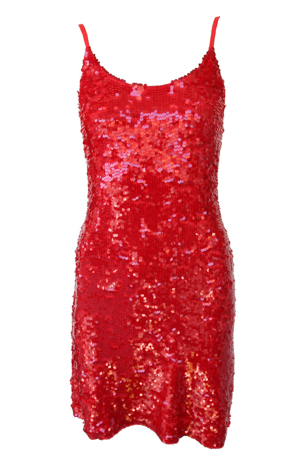 Dress Sequin Red