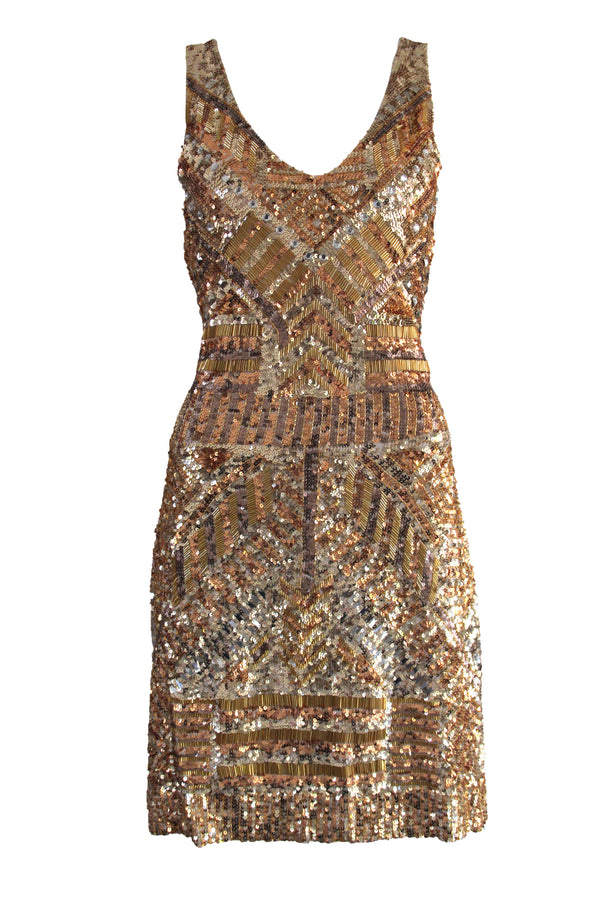 Dress Backless Armour Gold