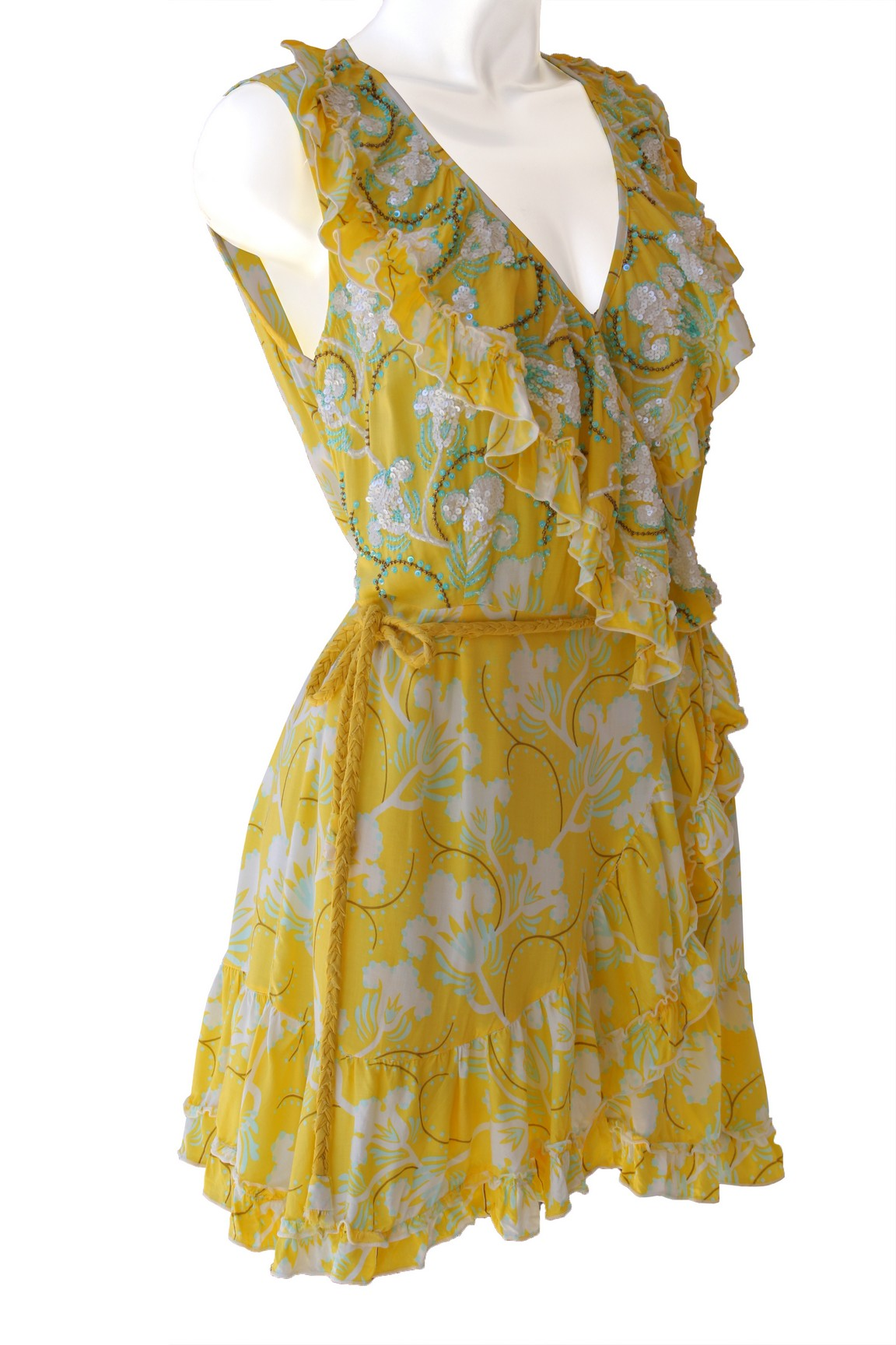 Dress Eva Bluebell Yellow