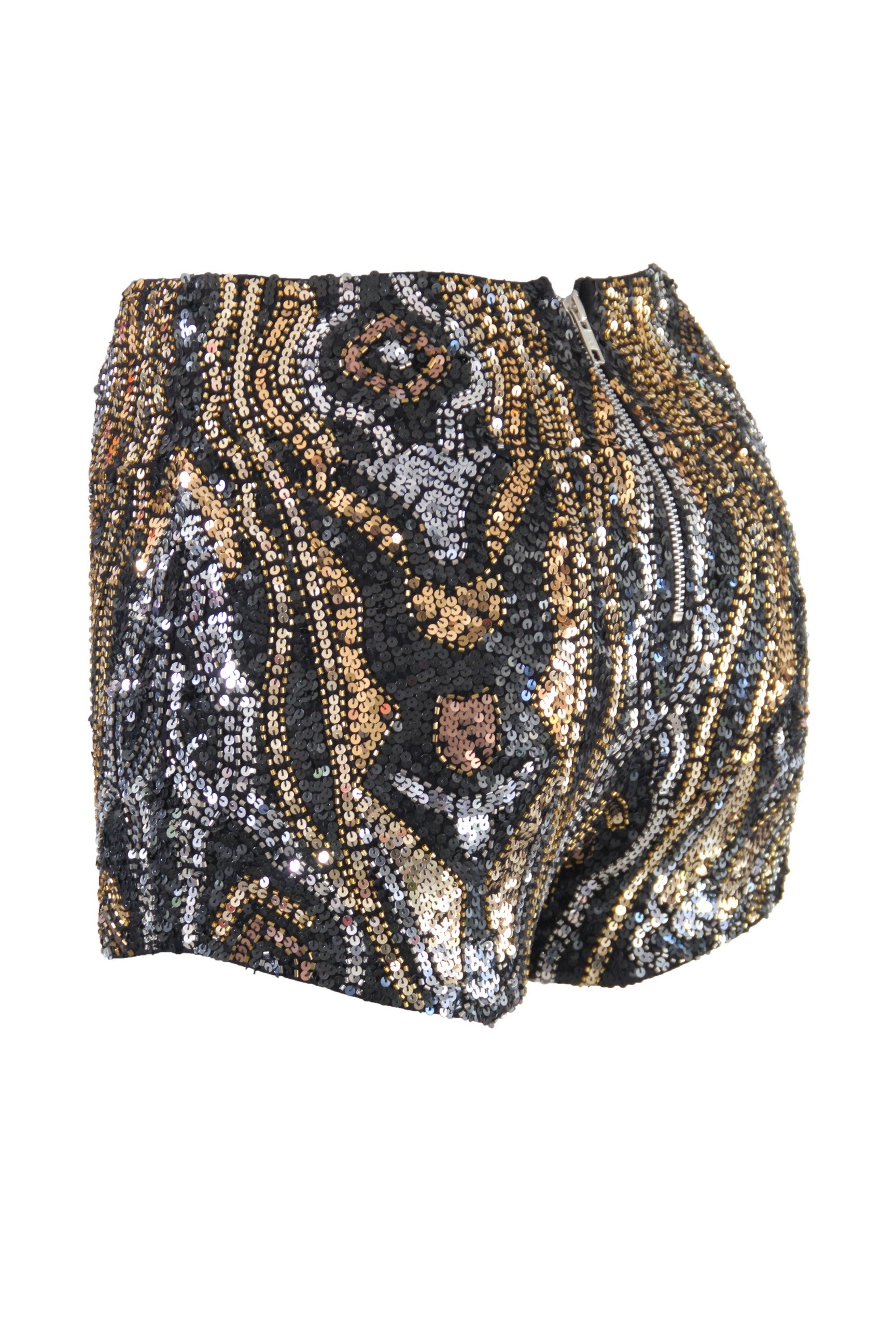 Shorts High Waist Serpent Black