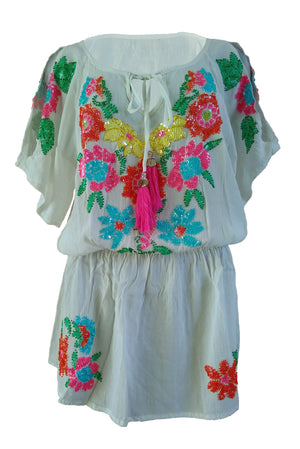 Tunic Blossom Off White