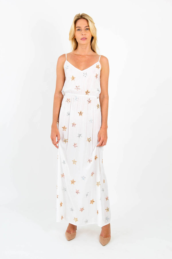 Dress Long Stars White