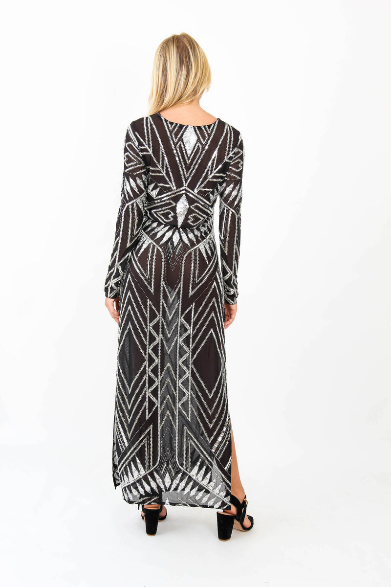 Long Dress Calypso Net Black