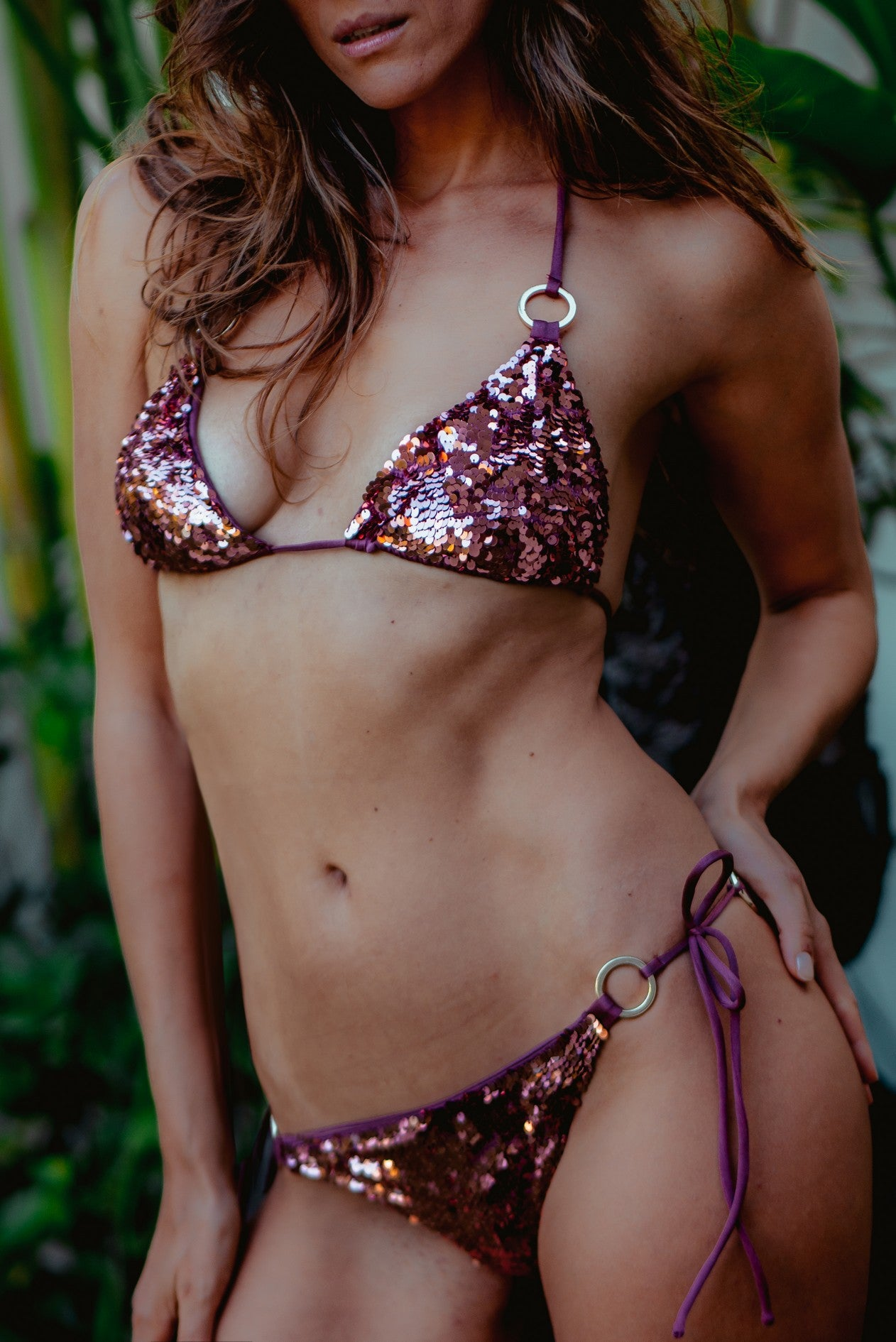 Bikini Sequin Ring Wild Ginger