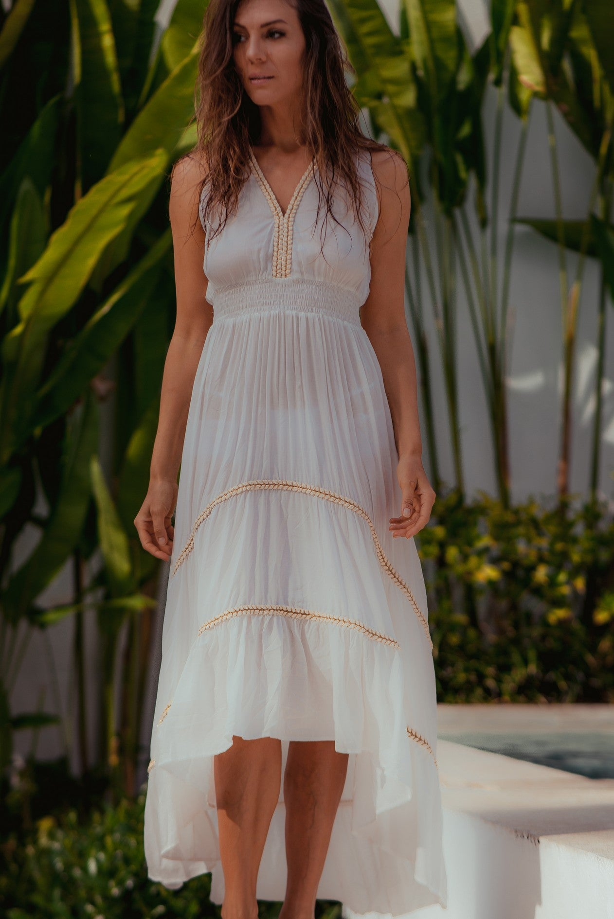 Dress Sienna High Low 2 Off-White