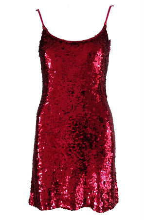 Dress Sequin Magenta