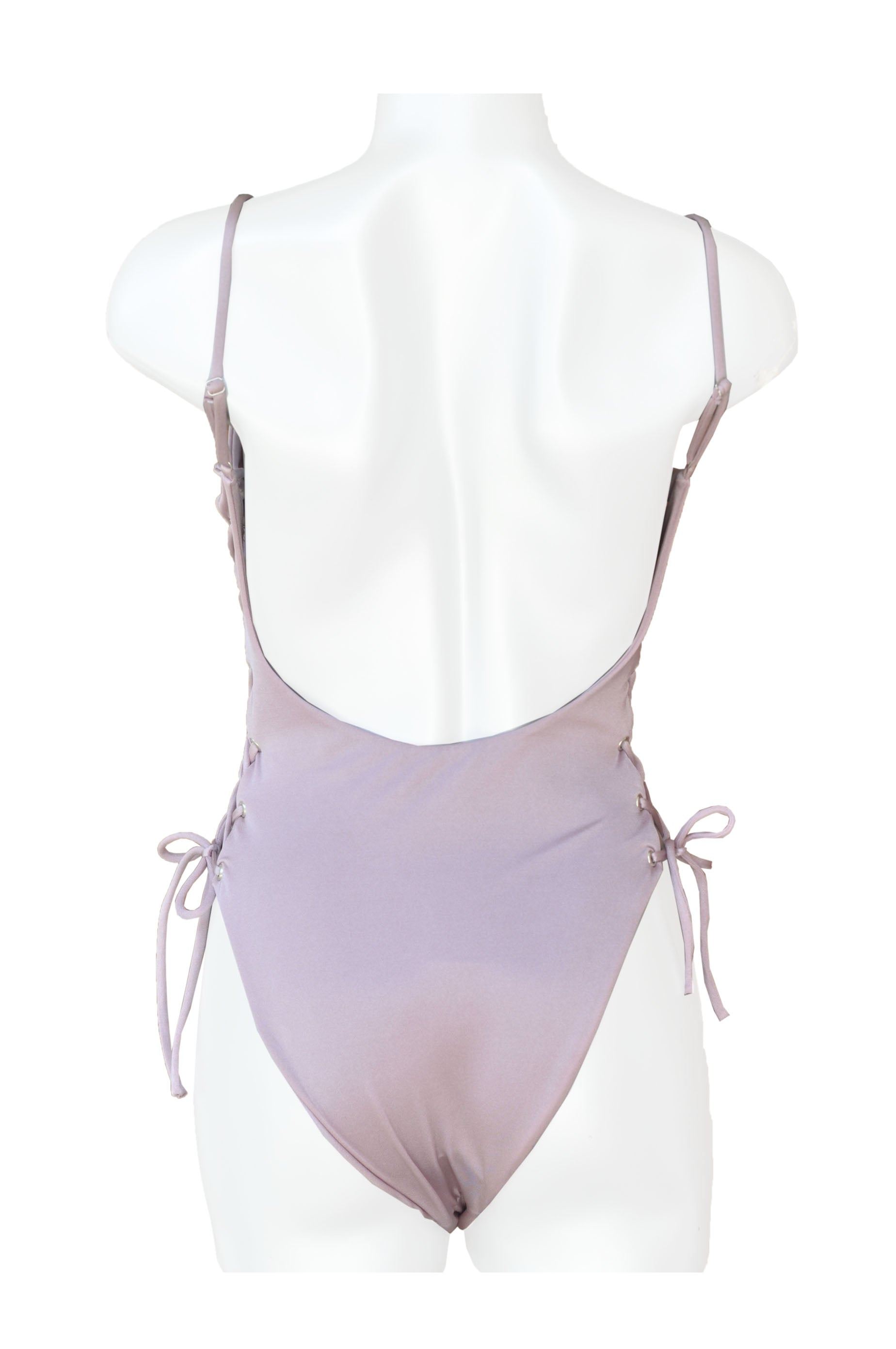 One Piece Double Lace Up Lilac