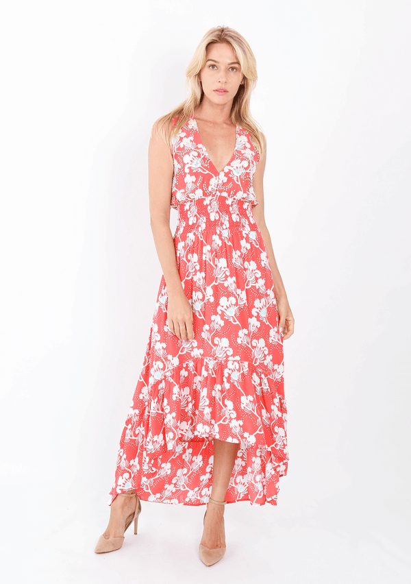Dress Sienna High Low Blue Bell Coral