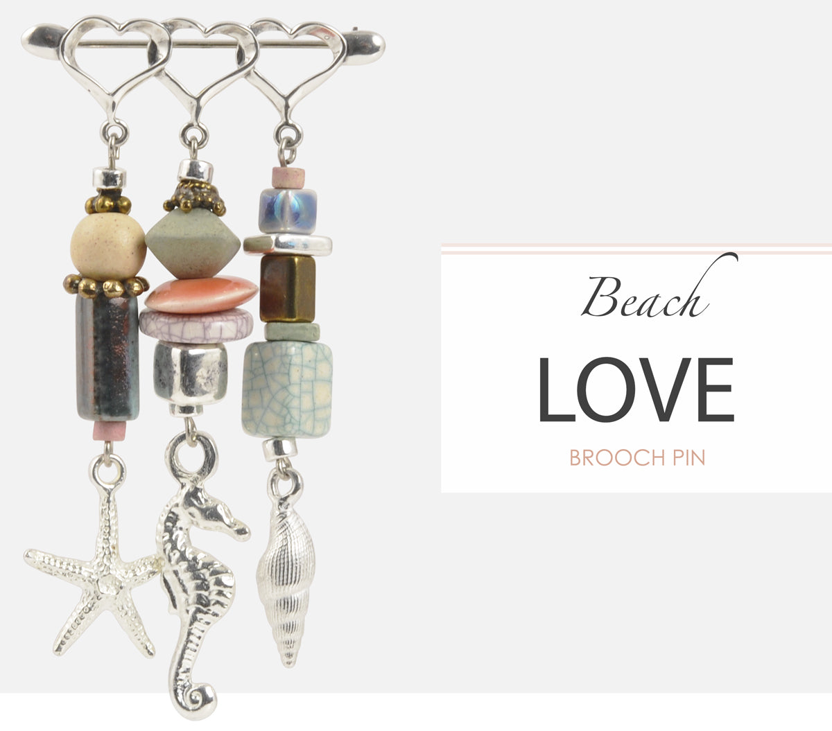 Beach Love Brooch Pin Tamara Scott Designs
