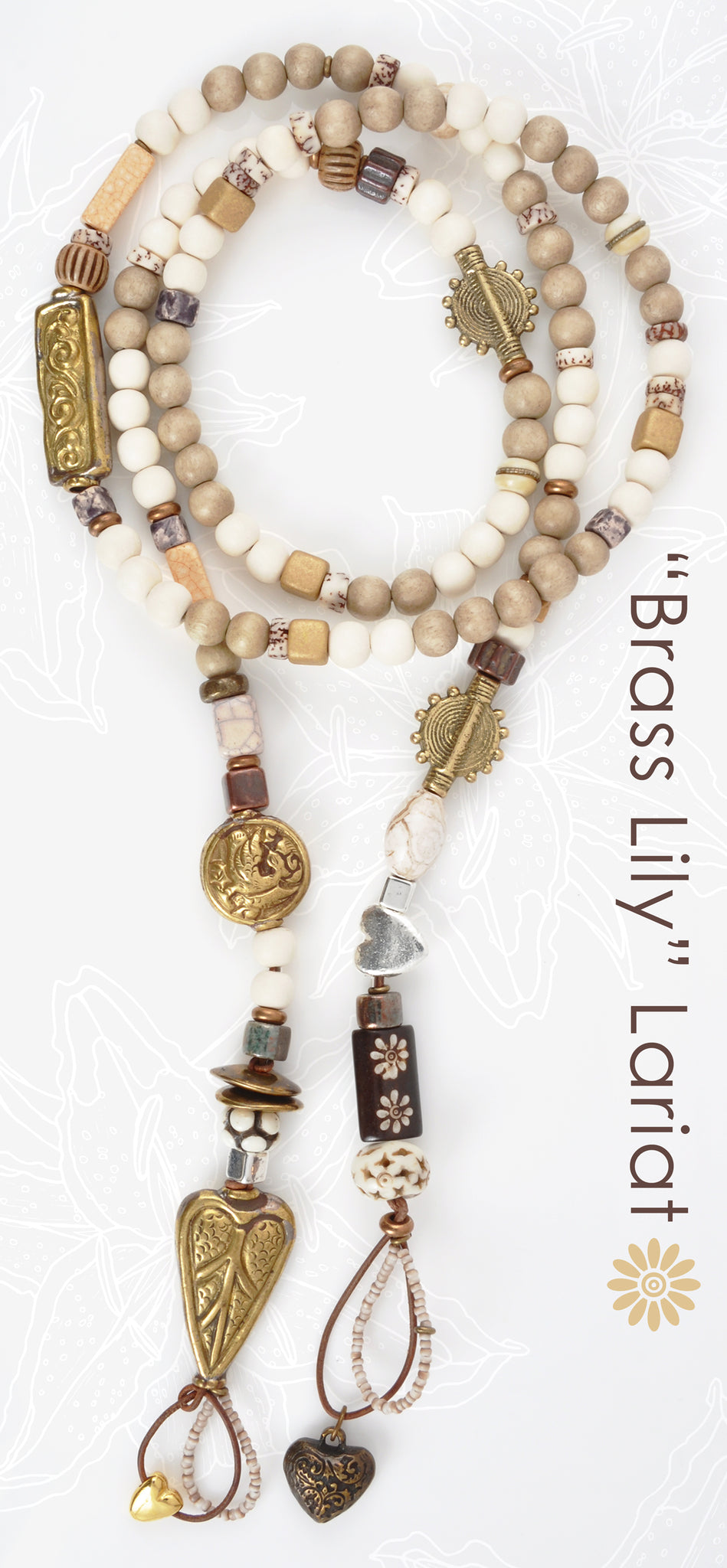 Brass Lily Lariat Blog Tamara Scott Designs