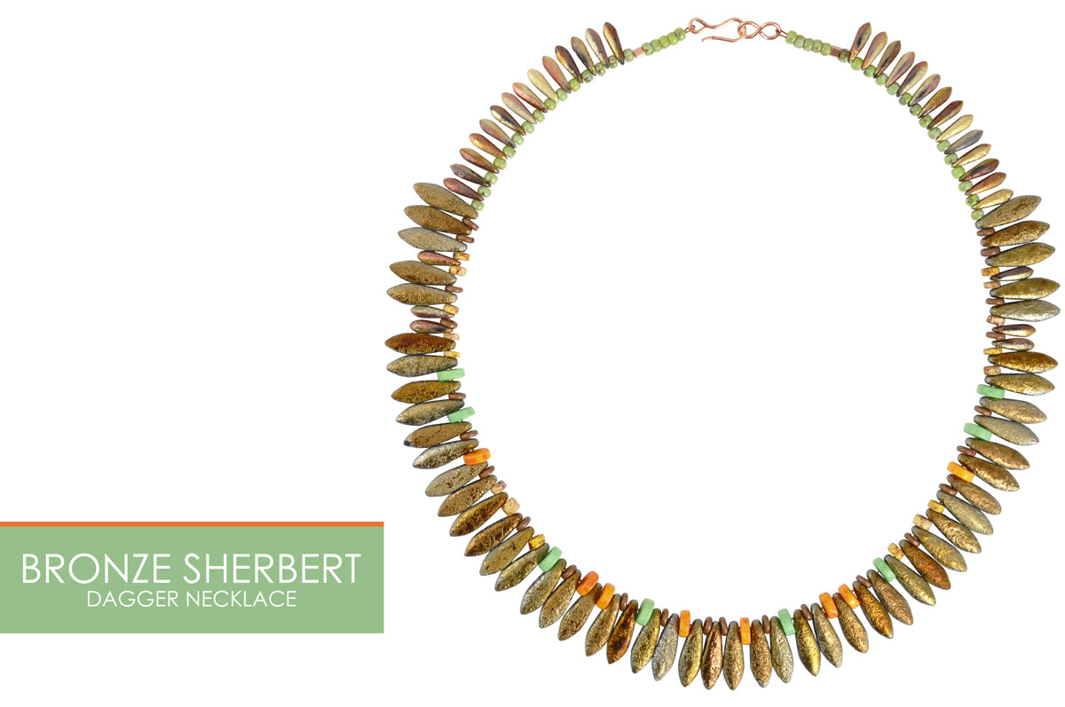 Bronze Sherbert Etched Necklace Tamara Scott Designs
