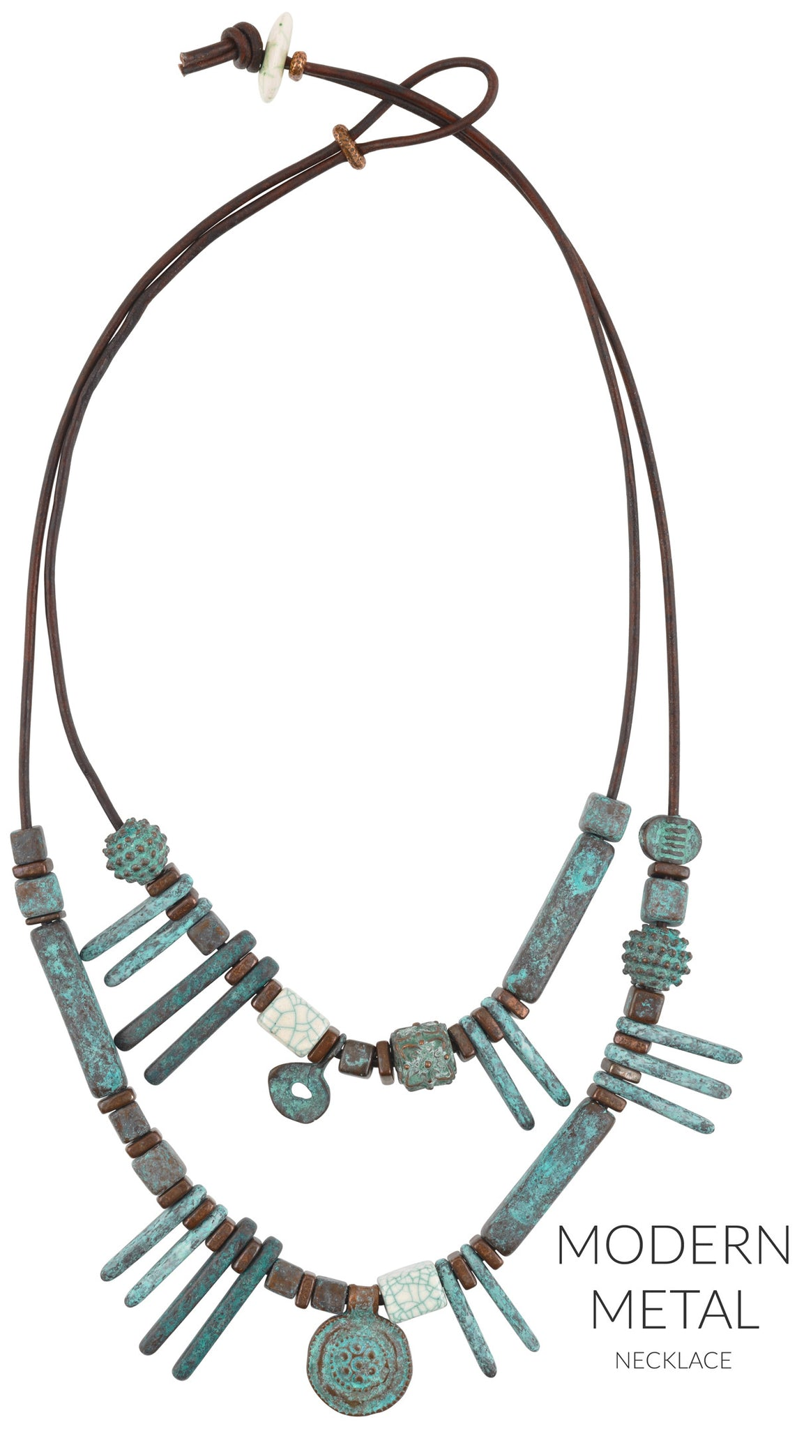 Modern Metal Leather Necklace Blog Tamara Scott Designs