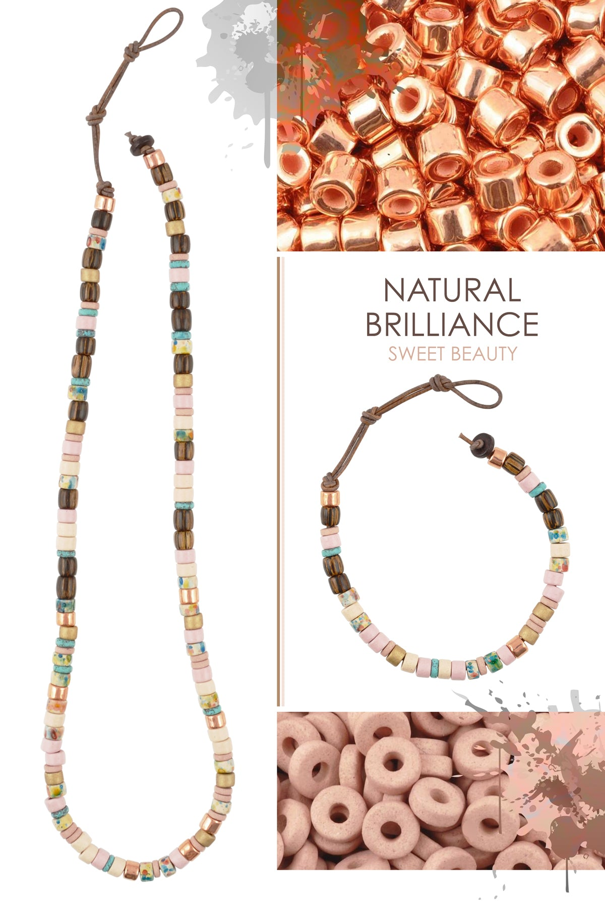Natural Brilliance Sweet Beauty Necklace and Bracelet