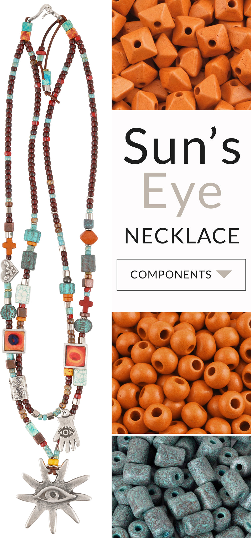 Sun's Eye Leather Necklace Blog Tamara Scott Designs