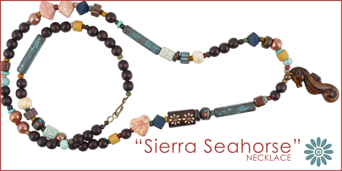 Sierra Seahorse Necklace Blog Tamara Scott Designs