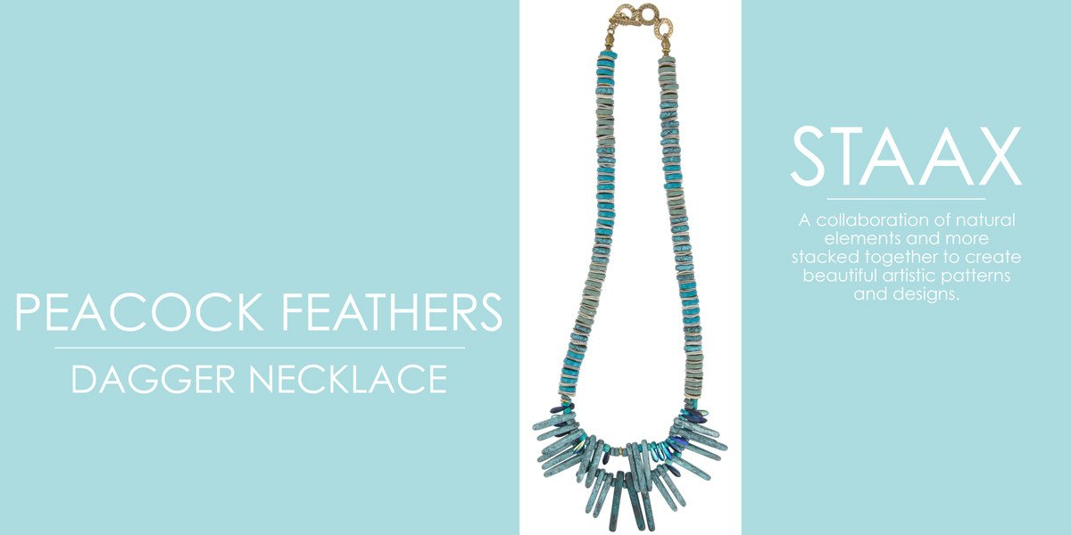 Shop Staax Peacock Feathers Dagger Necklace Components Tamara Scott Designs