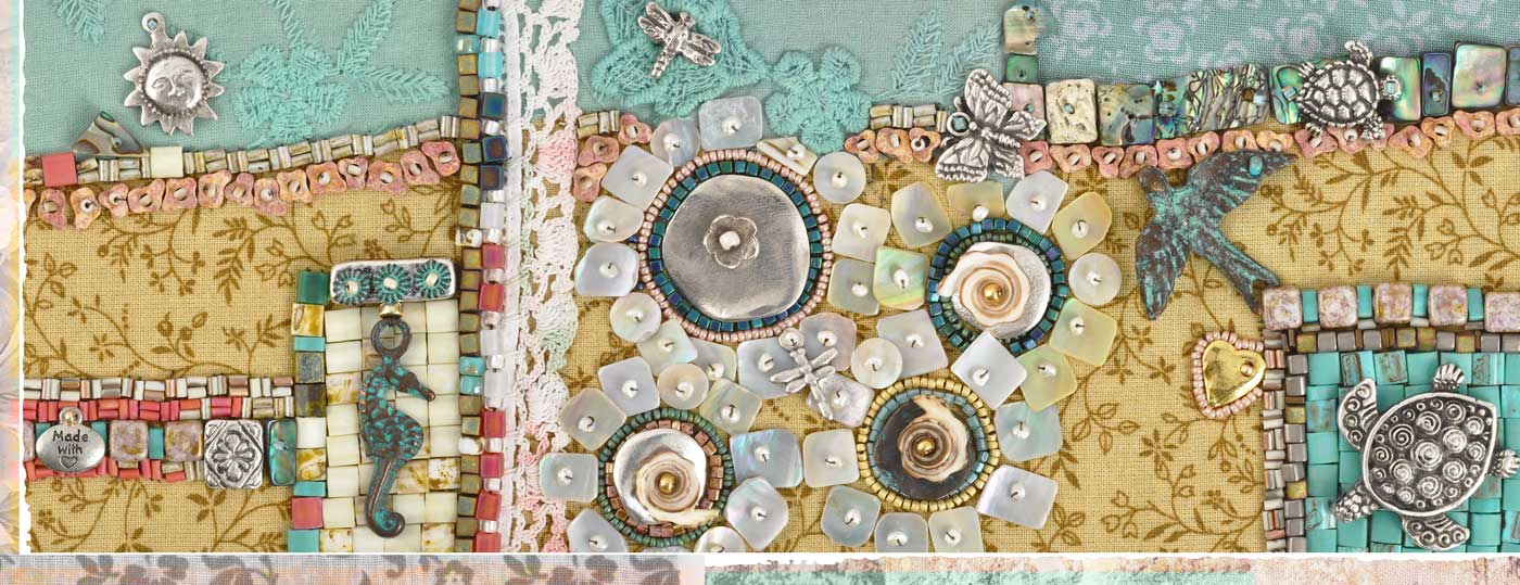 Summer Mixed Media Blog Banner Tamara Scott Designs