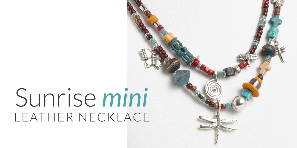 Sunrise Mini Leather Necklace Blog Tamara Scott Designs