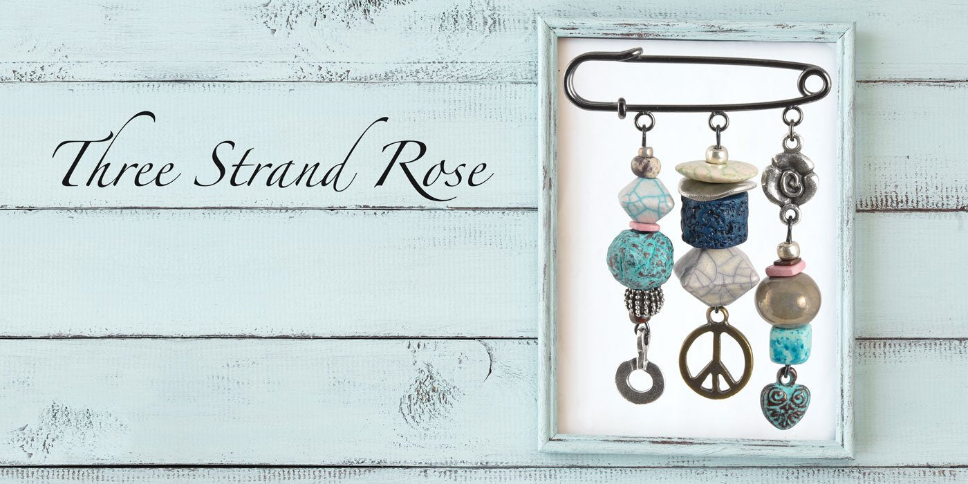 Shop Three Strand Rose Pin Components Tamara Scott Designs