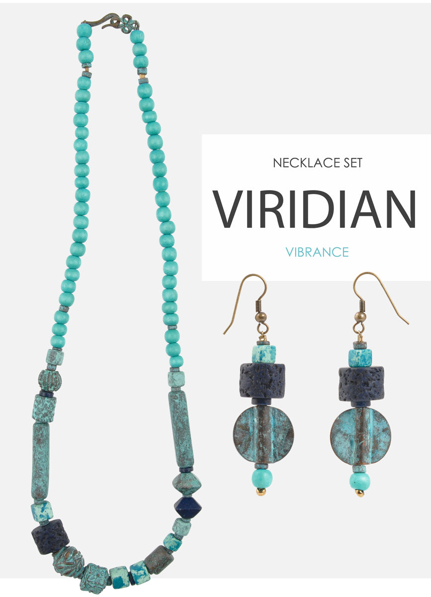 Viridian Vibrance Necklace Set Tamara Scott Designs