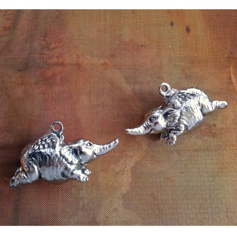 Green Girl Studios-Flying Elephant-Antique Pewter-Quantity 1