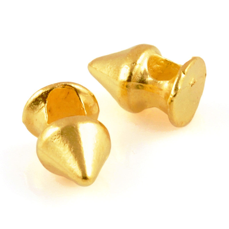 Casting-7x11mm Spike Bead-Gold